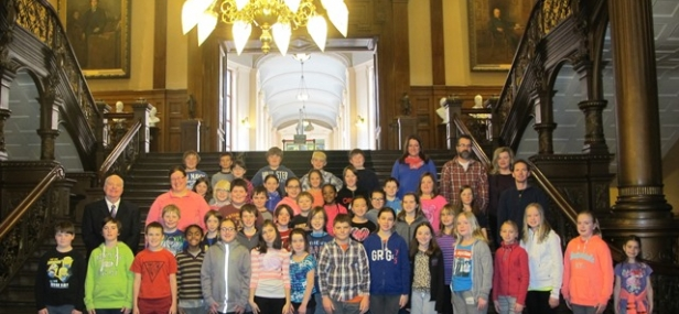 Father F. X. O'Reilly School Visits Queen's Park