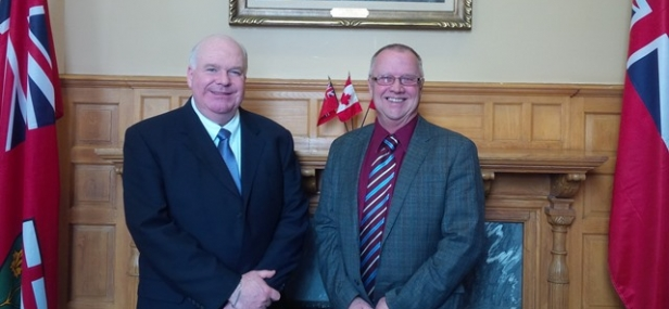 Jim Meets with Warden of Simcoe County