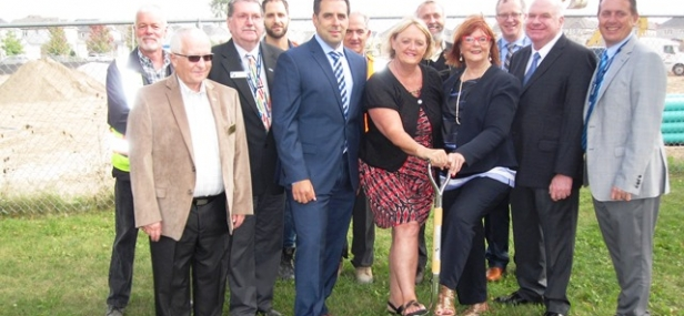 Jim attends groundbreaking for new school in Alliston