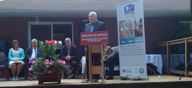Funding announcement for Matthews House Hospice in Alliston