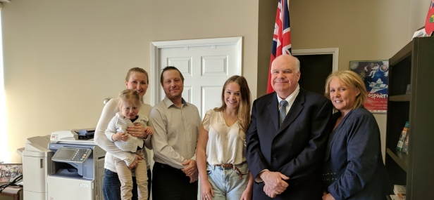 Jim meets with constituents fighting for cystic fibrosis medication