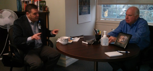 Jim Meets with Stevenson Memorial Hospital CEO, Dr. Jody Levac, in Alliston
