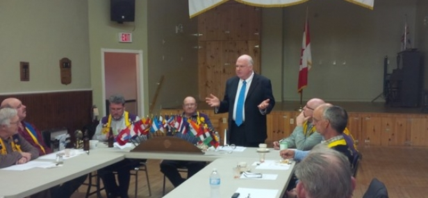 Jim Speaks at Thornton Lions Club